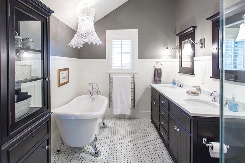 黑白美式风格卫生间图片大全