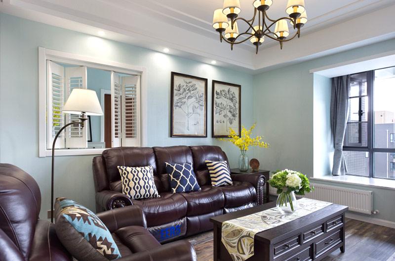 120平美式风格三室两厅室内装修
