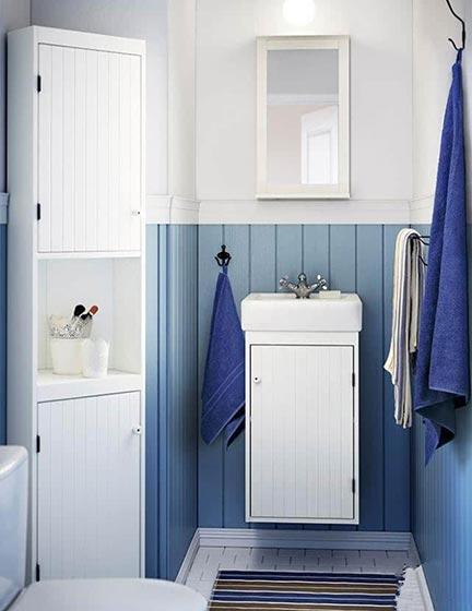 蓝色卫生间装修效果图