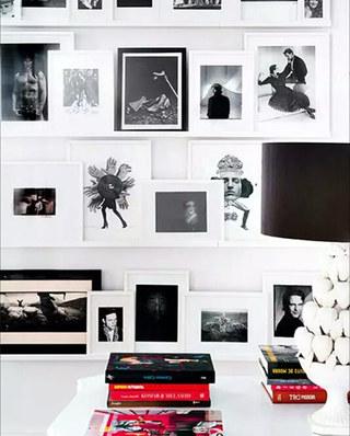书房装修照片墙摆放设计