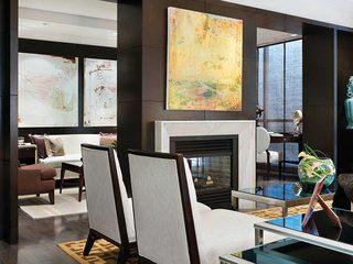 现代简约风格会客厅效果图