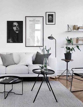 白色系客厅设计平面图