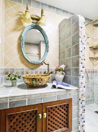 简约风格卫生间洗手台装修图