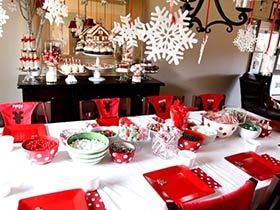 10个圣诞餐厅布置效果图 享受双重盛宴