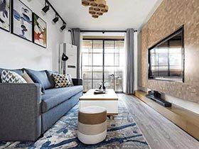 115平北欧风格三室两厅装修 原木家居