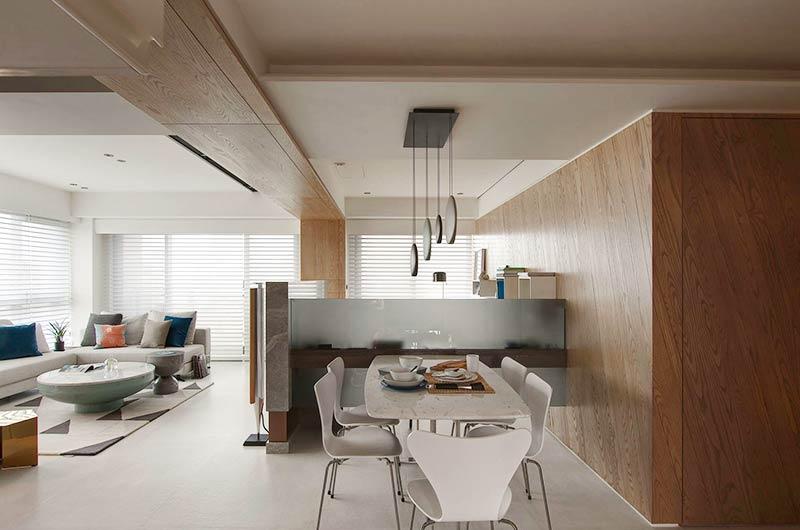 简约风格公寓装修餐厅效果图