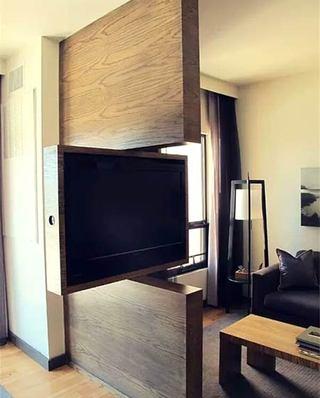 电视背景墙木隔断装修
