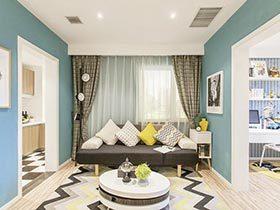 85㎡北欧风格两居室效果图  可爱的不经心