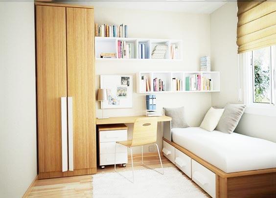 卧室书房一体装修图片