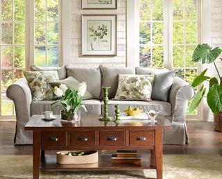 美式风格客厅三人沙发设计