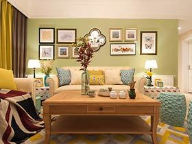 126平美式风格三室两厅装修 春风吹又生