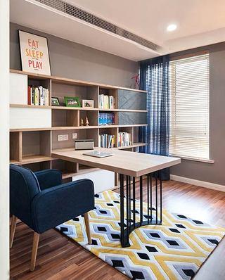 135平宜家风格三居书房效果图装修