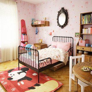 粉色系儿童房装修构造图