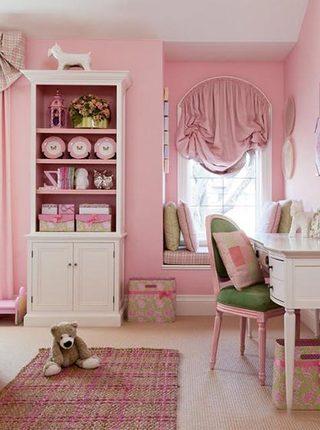 粉色系儿童房设计欣赏图