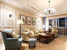 100平美式风格两室两厅装修 自然栖息地