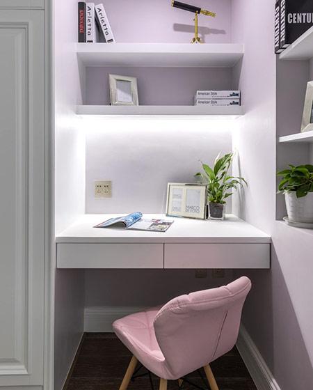 147平美式三居室小书桌图片