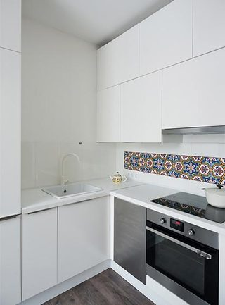 简约单身公寓厨房图片