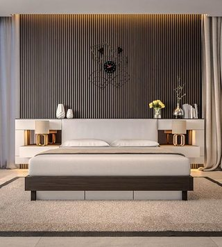 卧室条纹背景设计参考图