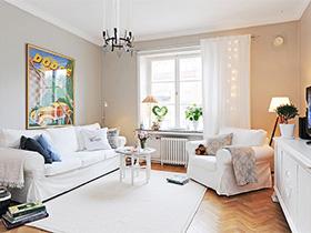客厅换新衣  10个北欧风客厅背景墙图片
