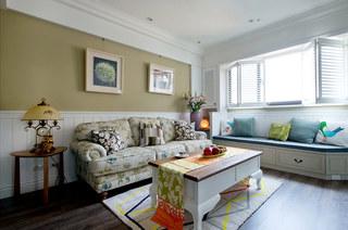 美式乡村风格装修沙发背景墙装饰画