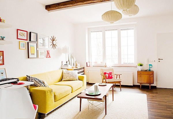 白色系混搭风格客厅图片大全
