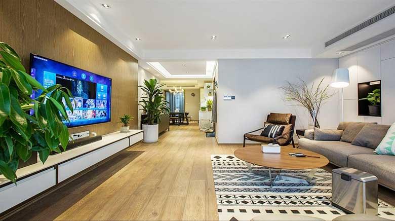 90平米房子两居室简装效果图