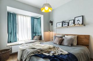 70平北欧风格二居主卧室装修