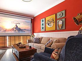 60平美式风格小二居室设计 温馨美式空间