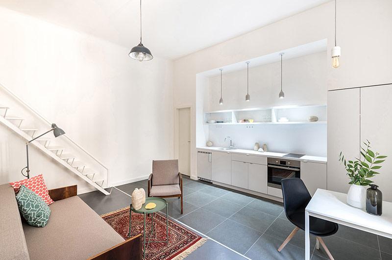 110平单身公寓改造整体橱柜设计