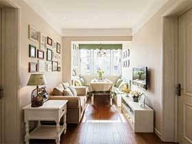 90㎡美式乡村风格两居室效果图  乡村美好生活