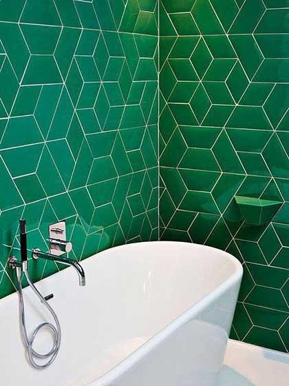 绿色系卫生间设计图片大全