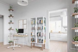 北欧风二居室书架设计图