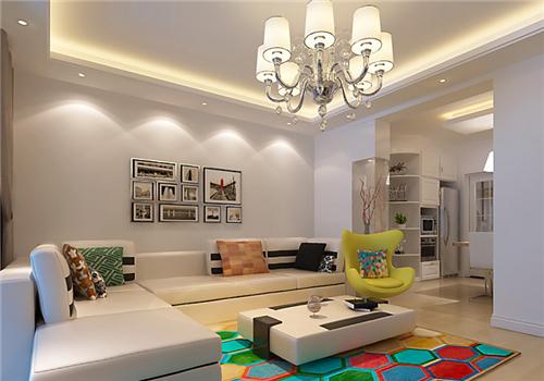 5万元简装修效果图 纯白极简的70平二居室装修案例