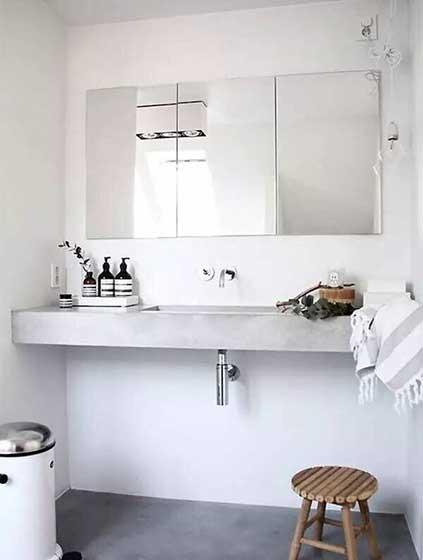 卫生间砖砌洗手池装修平面图