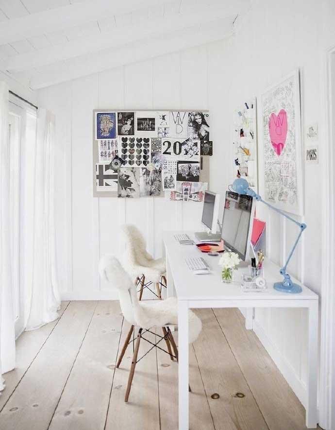 白色系角落书房装修图片大全