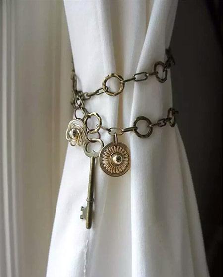 复古窗帘挂钩装饰图