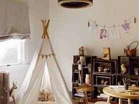 翻滚的宝宝  10个儿童房帐篷布置图