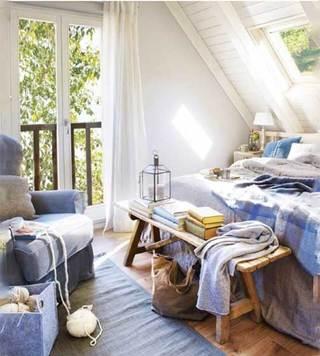 简约风格卧室设计实景图