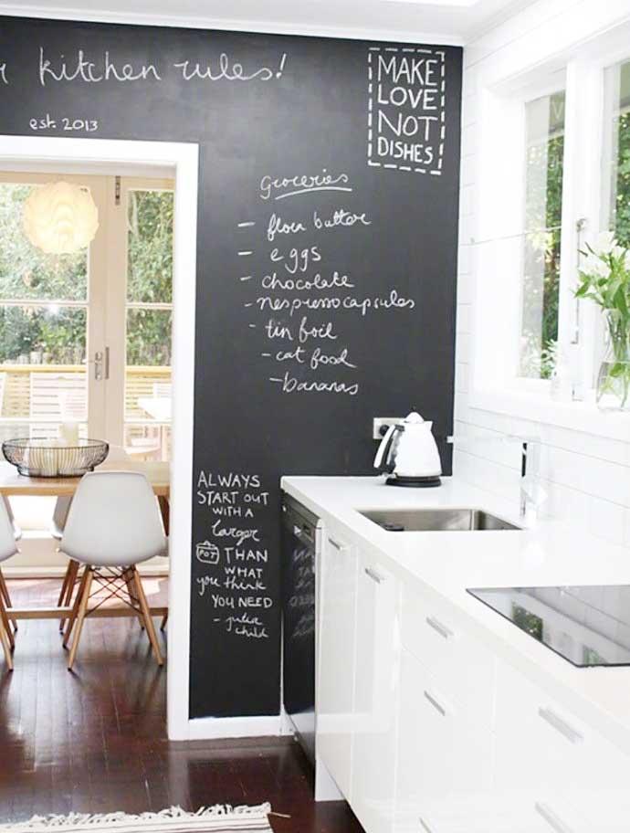 室内黑板墙布置摆放图