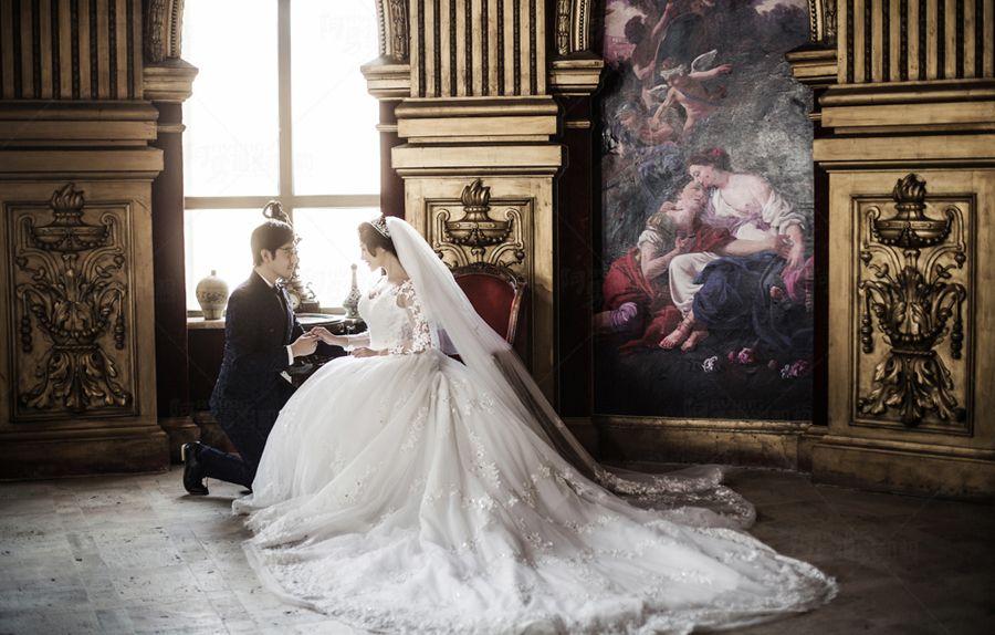 婚纱照欧式_婚纱照欧式建筑