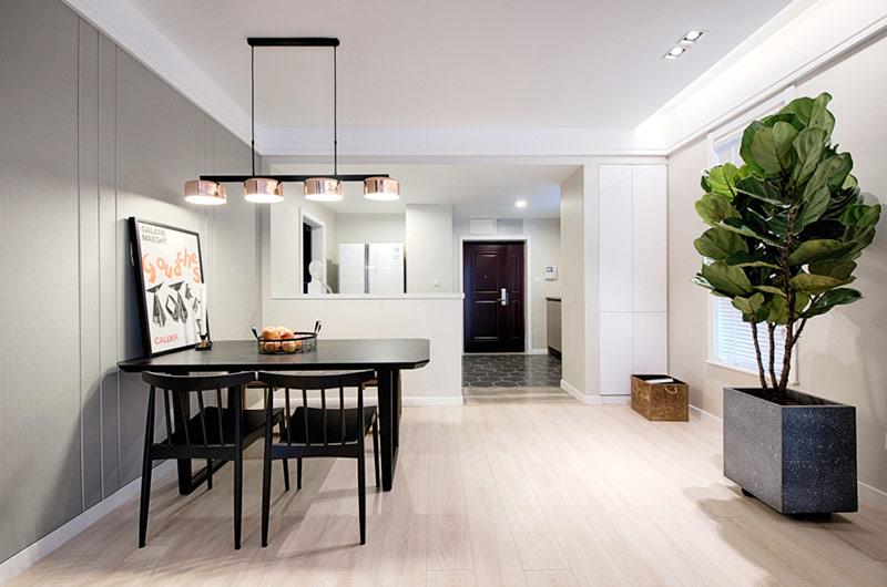 110平简约风格公寓装修餐厅效果图