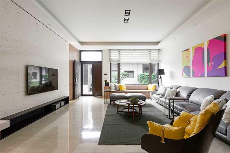 现代风格两居室装修装饰效果图