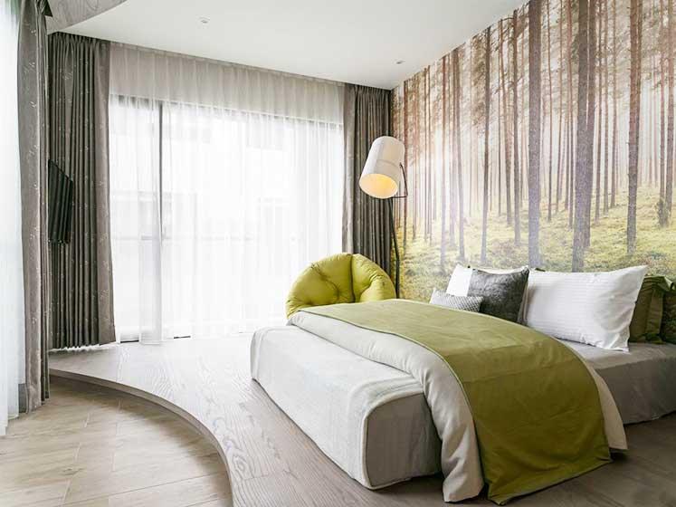 现代风格两居室次卧室平面图