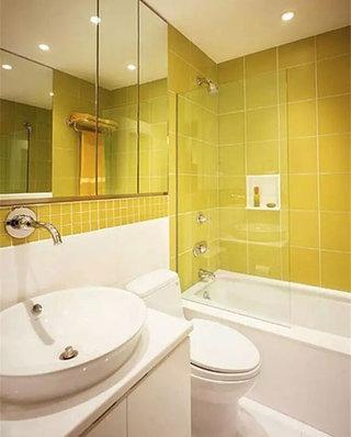 小户型黄色卫生间效果图