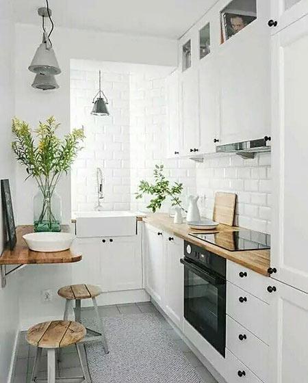 小户型白色厨房装修图效果
