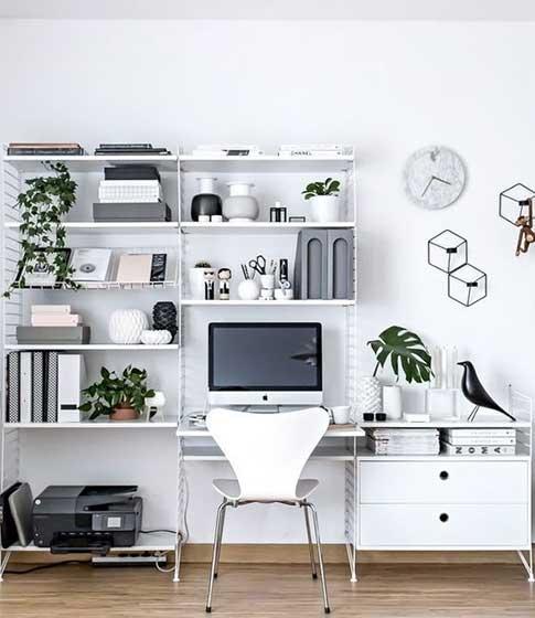 家庭小书桌书架图片