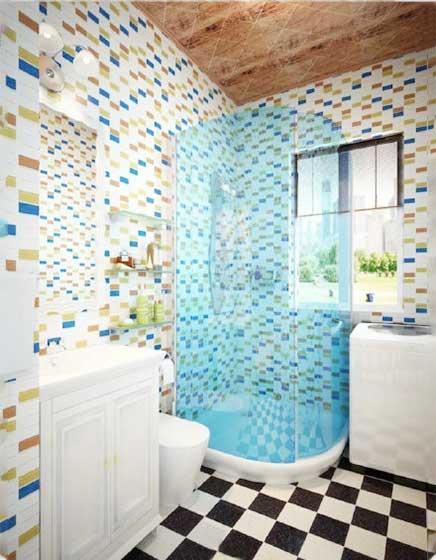 简约风浴室参考图片