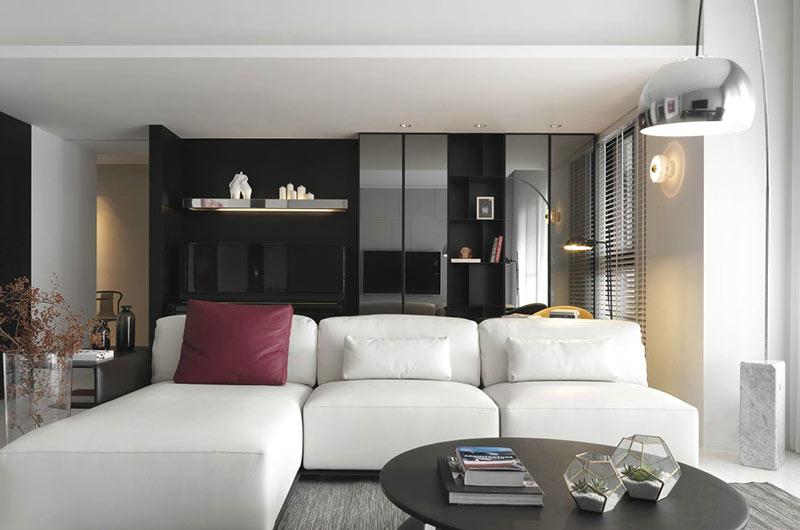 180平简约风格公寓客厅效果图