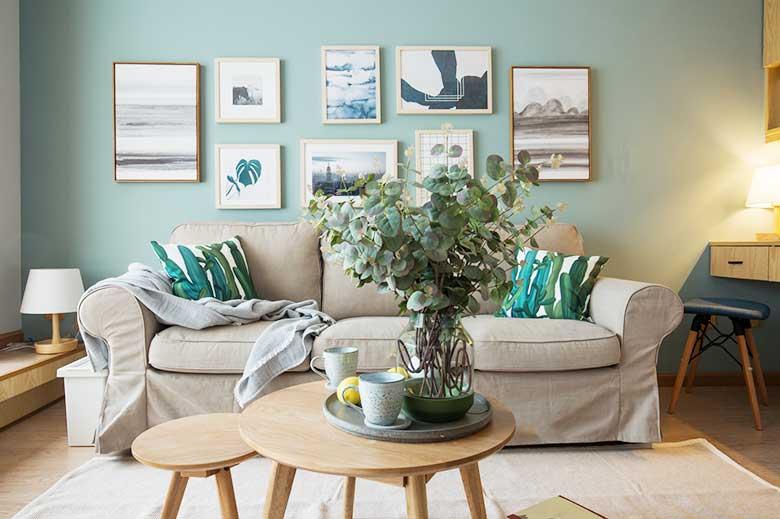 简约风单身公寓客厅图片