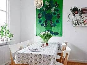 10个清新餐厅桌布效果图 桌子变美全靠它